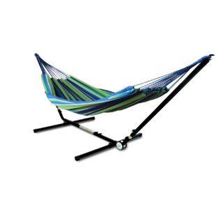 Edmont Brazilian Double Tree Hammock with Stand by Freeport Park