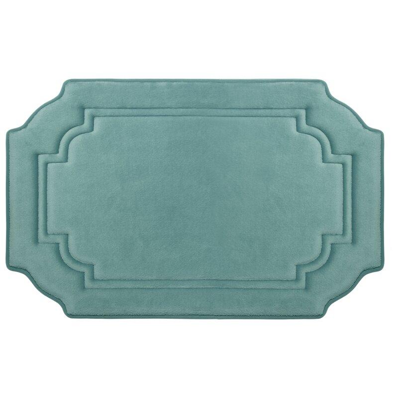 Marine Blue Memory Foam Bath Mat
