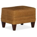 Zion 25'' Genuine Leather Rectangle Standard Ottoman by Bradington-Young