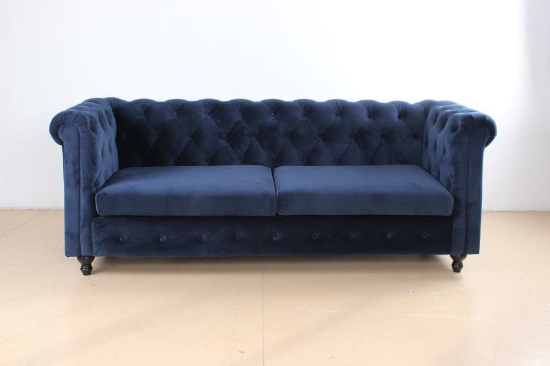 Rosdorf Park Hampshire 85 5 Velvet Rolled Arm Chesterfield Sofa With Reversible Cushions Wayfair