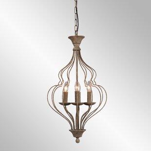 Bungalow Rose Gaeta 4-Light Lantern Pendant