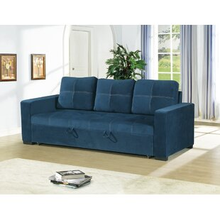 Latitude Run Lusher Polyfiber Fabric Convertible Sofa