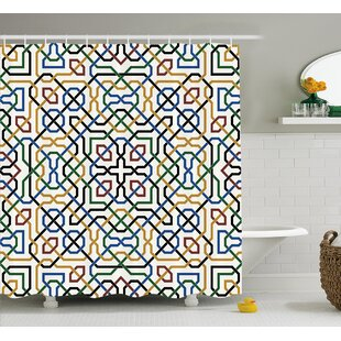 Damiana Arabic Marrakesh Motif Single Shower Curtain