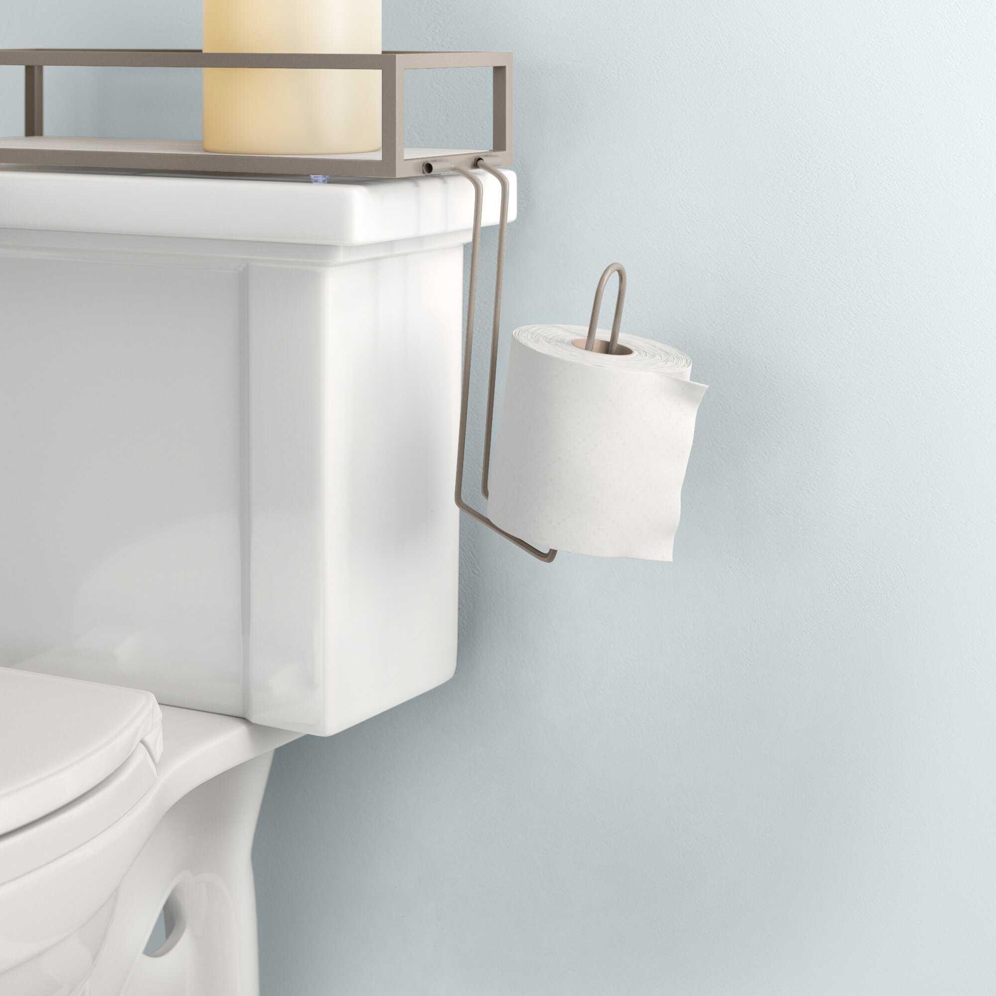 Dotted Line Darby Toilet Tank Mount Storage Toilet Paper Holder Reviews Wayfair