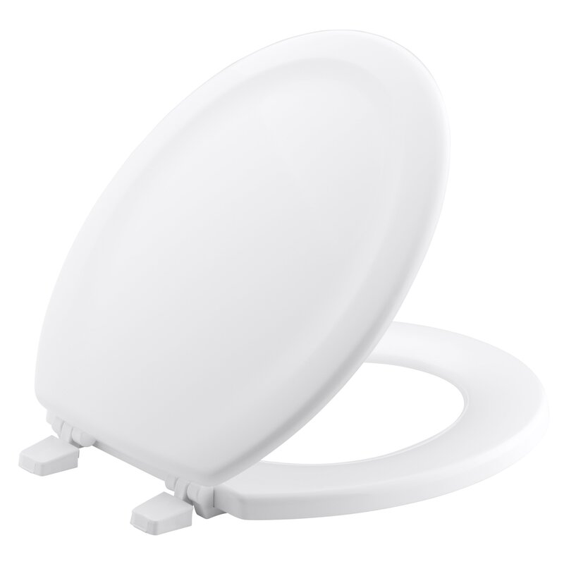 Stonewood with Quick-Release Hinges Round-Front Toilet Seat
