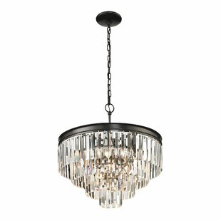 linear crystal chandelier. Springfield 5-Light Crystal Chandelier Linear