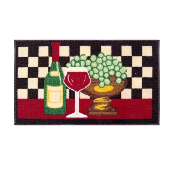 Ruano Grapes and Wine Kitchen Mat