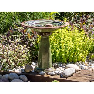 Encina Bird Bath Stand By Sol 72 Outdoor