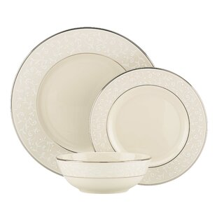 Pearl Innocence Bone China 3 Piece Place Setting, Service for 1