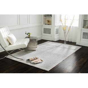 Flatweave Hand-Woven Gray/White Area Rug By Ivy Bronx