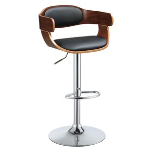 Ruthton Swivel Adjustable Height Bar Stool