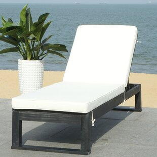 Highland Dunes Darlington Sunlounger Reclining Chaise Lounge with Cushion