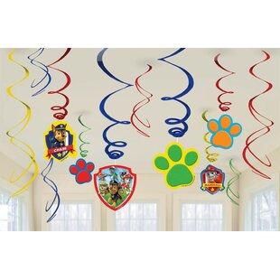 Paw Patrol Paper Disposable Hanging Swirls Decorations