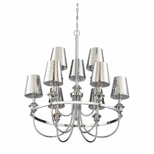 House of Hampton Mickle 9-Light LED Shaded Chandelier