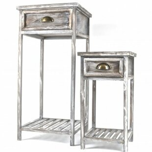 Flemington 2 Piece Wooden End Table