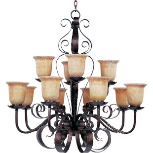 Fleur De Lis Living Willer 12-Light Shaded Chandelier