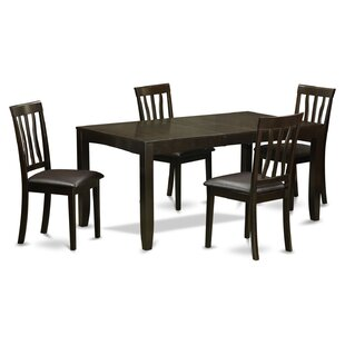 Lockmoor 5 Piece Extendable Dining Set Red Barrel Studio