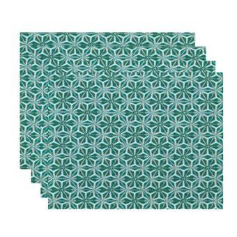 Bloomsbury Market Kam Animal Stripe Geometric Print 4 Piece Placemat Set Wayfair