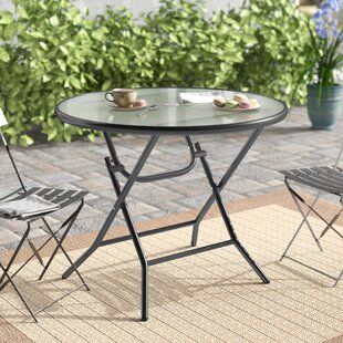 Vargas Folding Glass Bistro Table