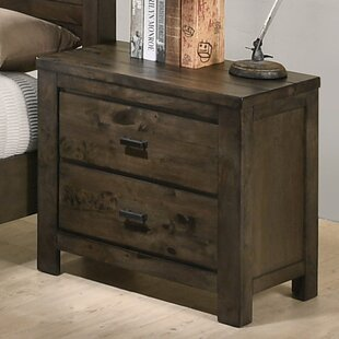 Teignmouth Weathered Distressed 2 Drawer Nightstand