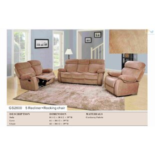 Shop For Borger 3 Piece Reclining Living Room Set by Red Barrel Studio Reviews (2019) & Buyer's Guide