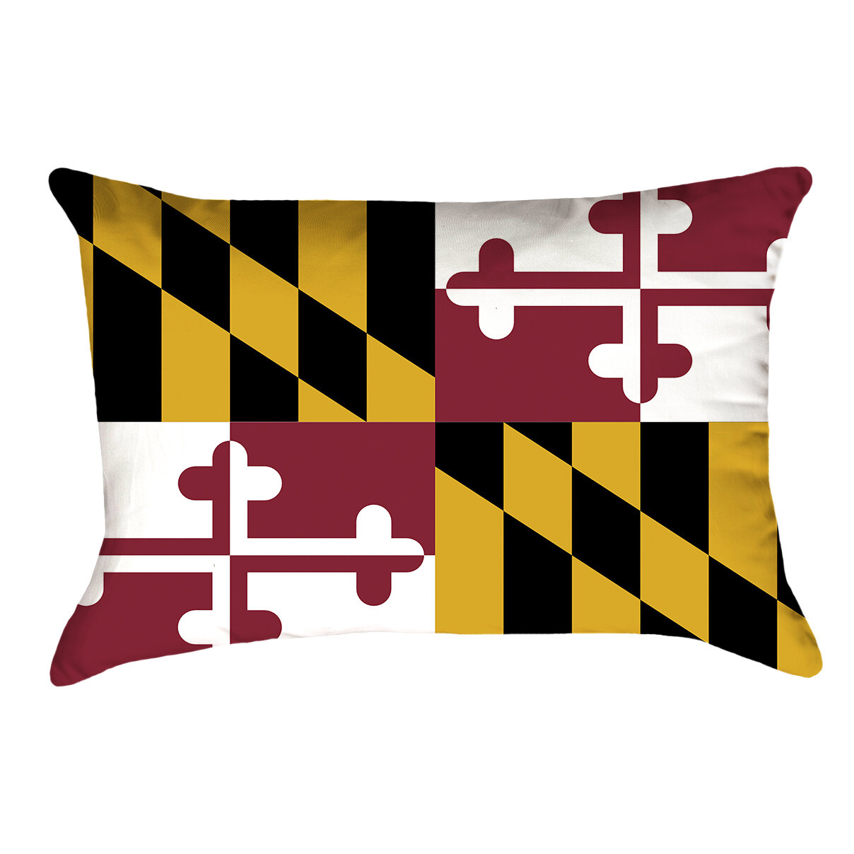 East Urban Home Centers Maryland Flag Lumbar Pillow In Faux Suede Double Sided Print Lumbar Pillow Wayfair
