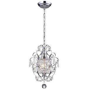 Emmaline 1-Light Crystal Pendant by House of Hampton