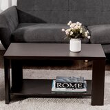 Casee Solid Wood Coffee Table with Storage by Latitude Run®