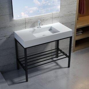 Wolkeseiben Stone 39 Console Bathroom Sink InFurniture