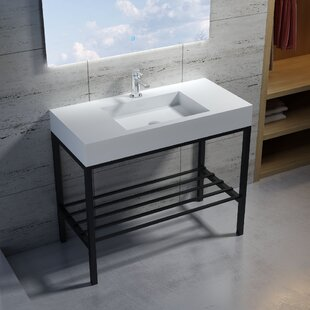Bargain Wolkeseiben Stone 39 Console Bathroom Sink By InFurniture
