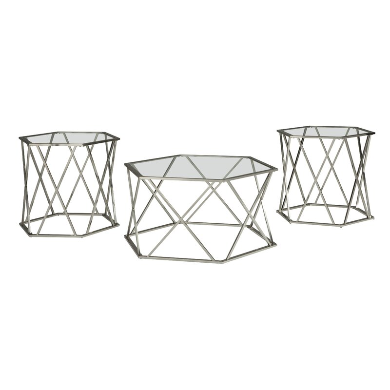 hofstetter 3 piece coffee table set reviews joss main