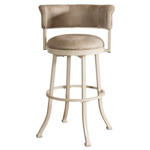 Alisia Swivel Bar Stool Red Barrel Studio