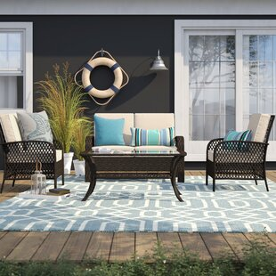 Tribeca 4 Piece Rattan Set with Cushion