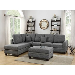Marshal Reversible Sectional with Ottoman