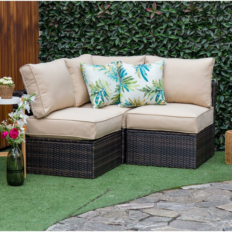 Boyce Outdoor Patio Sectional With Cushions Reviews Joss Main