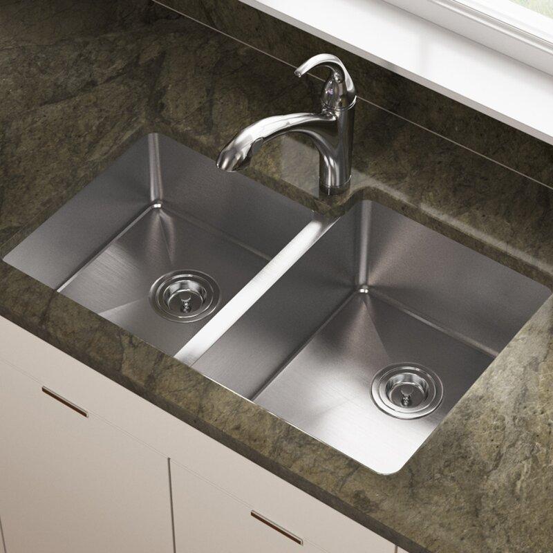 Mrdirect Stainless Steel 31 X 21 Double Basin Undermount Kitchen Sink Wayfair