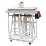 Orford Kitchen Cart by Rosecliff Heights