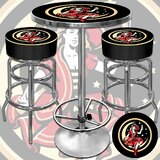Girl in the Moon Game Room 3 Piece Pub Table Set by Trademark Global