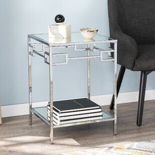 Bunyard Mirrored End Table