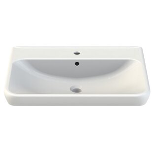 CeraStyle by Nameeks Belo Ceramic Rectangular Drop-In Bathroom Sink with Overflow