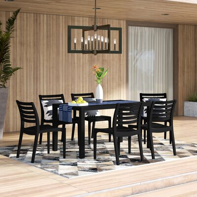 Melissus 7 Piece Dining Set by Mercury Row Coupon