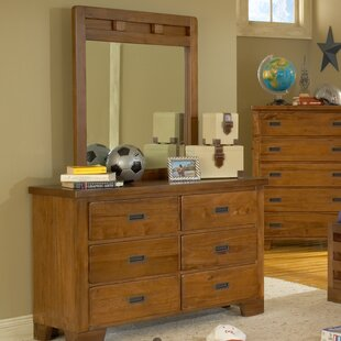 Montcerf Kids 6 Drawer Double Dresser with Mirror By Lark Manor