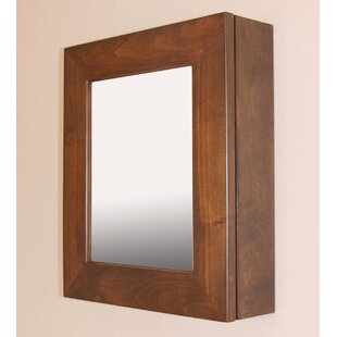 Surface Mount Framed 1 Door Medicine Cabinet with 3 Adjustable Shelves by Fox Hollow Furnishings