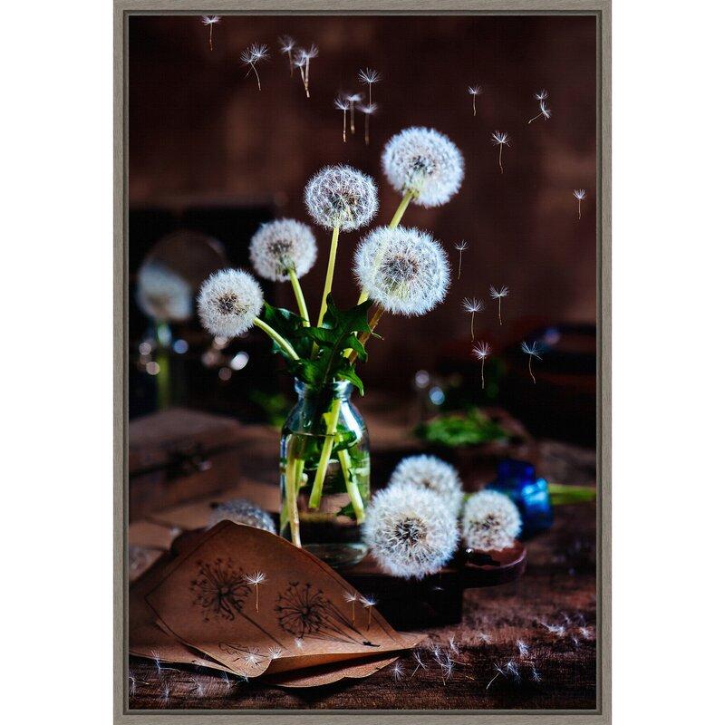 Red Barrel Studio Jeronimo Dandelion Flowers By Dina Belenko Floater Frame Photograph Print On Canvas Wayfair