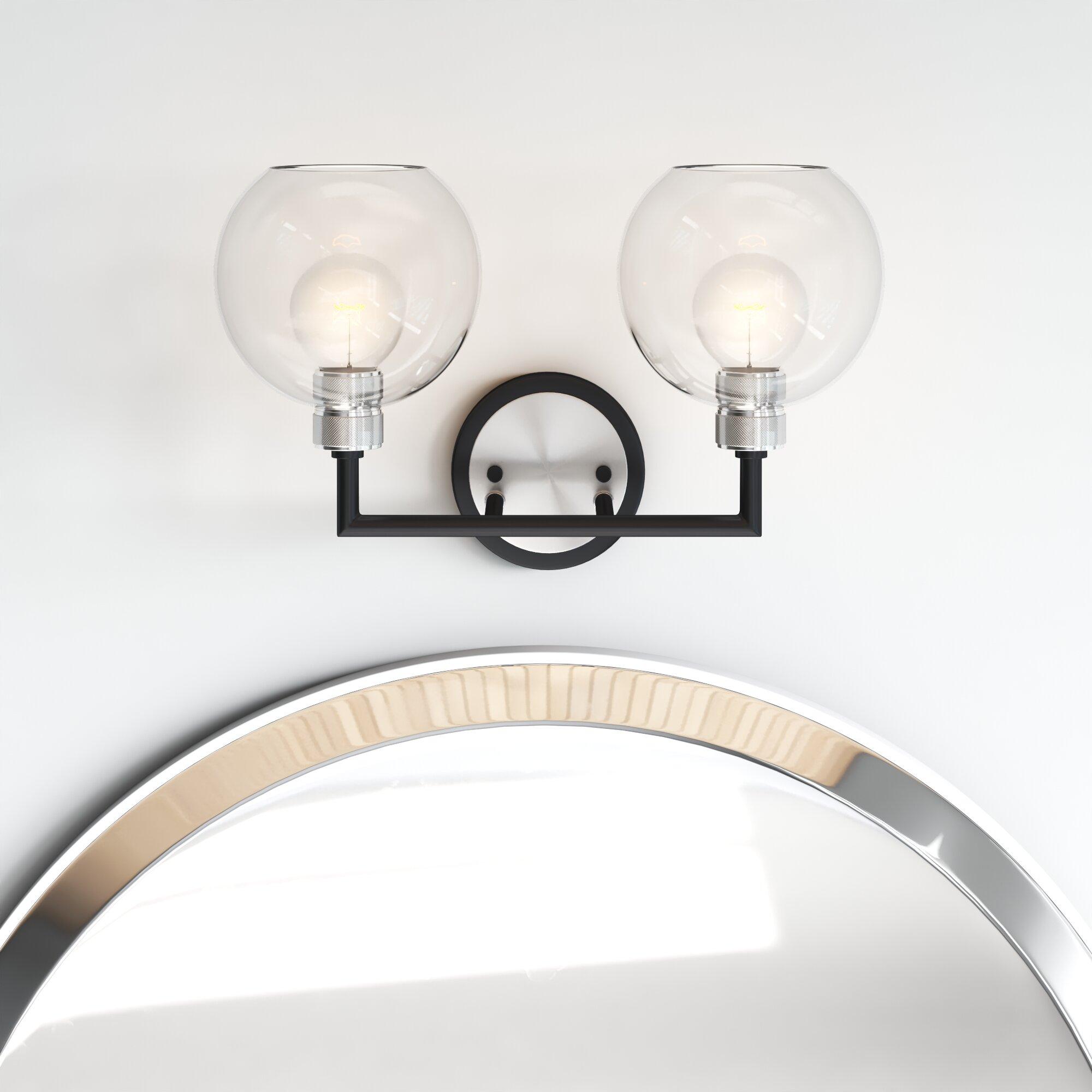 Modern 2 Light Vanity Lighting Allmodern