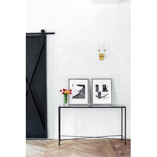 Chloé Metal Console Table by Ave Home