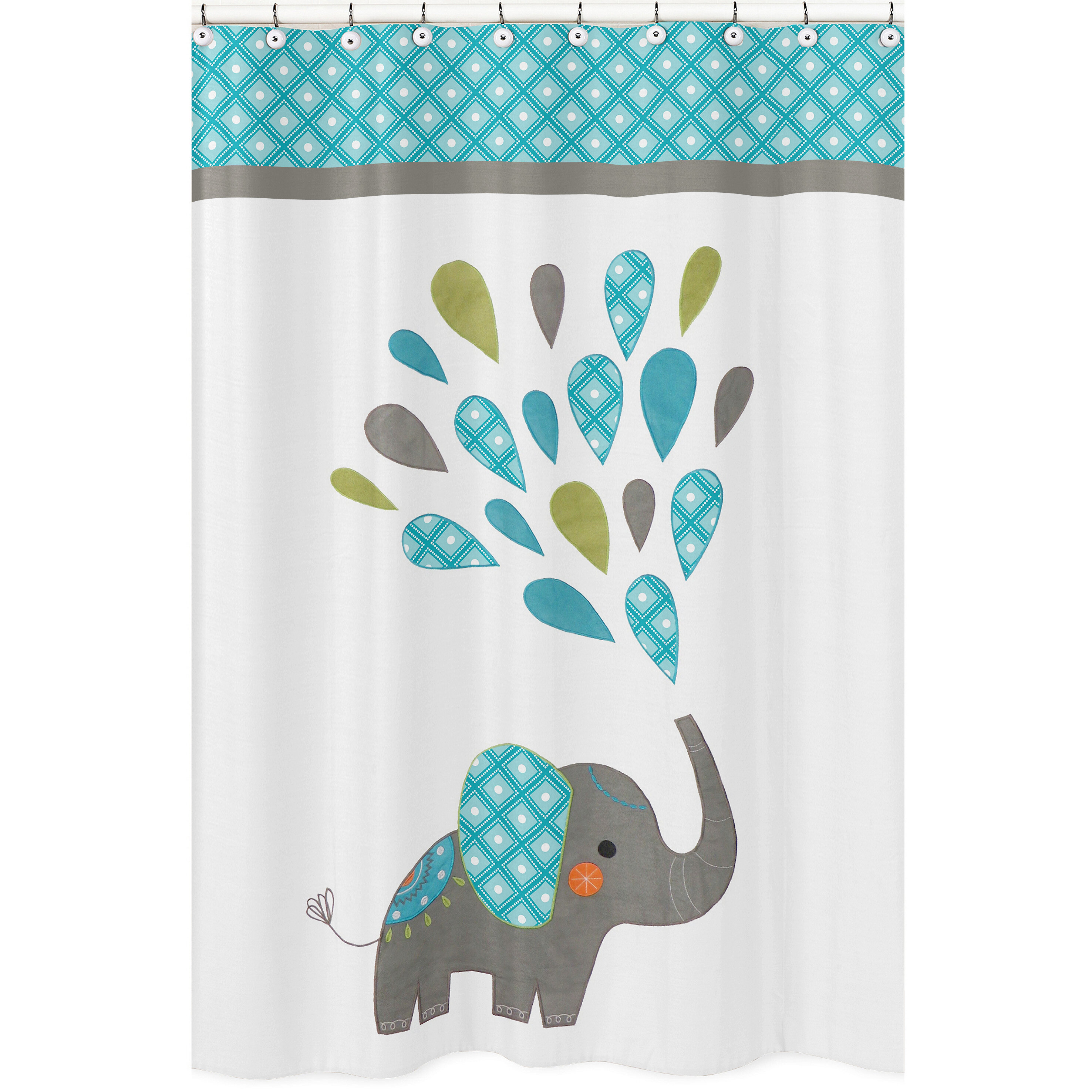 Sweet Jojo Designs Mod Elephant Shower Curtain Reviews