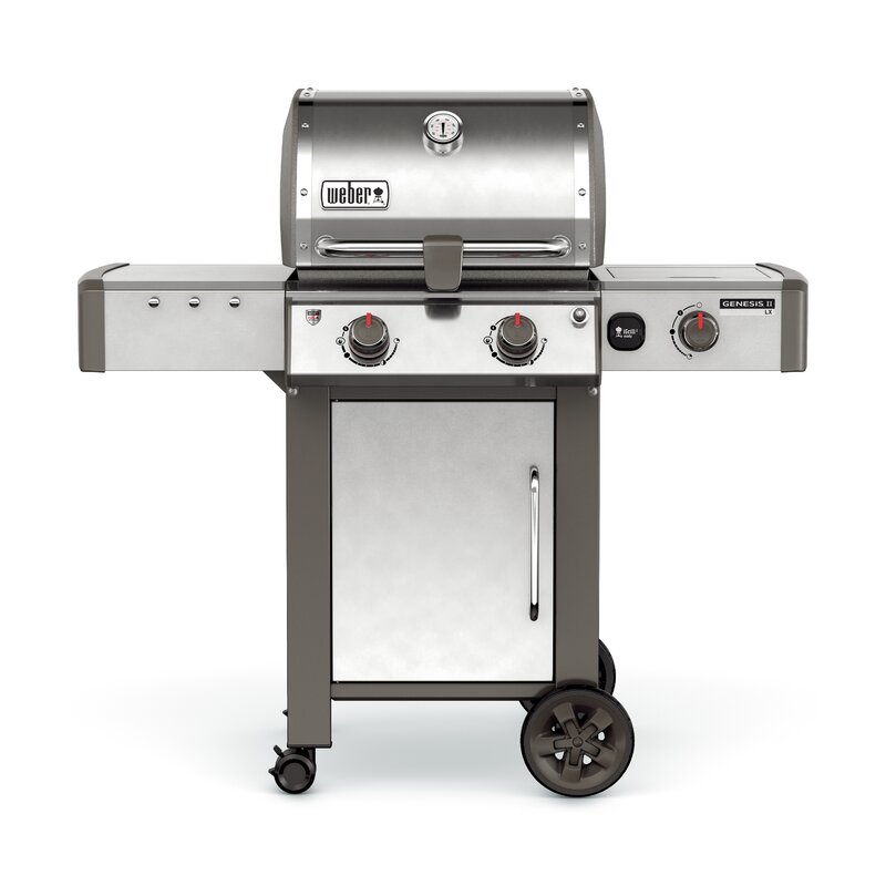 Genesis Ii Lx S 240 2 Burner Natural Gas Grill With Side