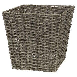 Dynamic Plastic Braided Rattan Style 45l Laundry Basket Hamper Storage Box Bin Sky Blue Excellent In Quality