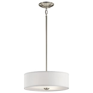 Hopedale 1-Light Semi Flush Mount by Latitude Run